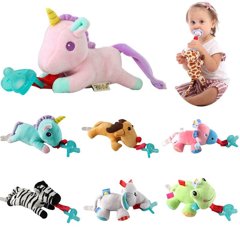 24 בעלי חיים בחירת תינוק ילד ילדה Dummy מוצץ שרשרת קליפ בפלאש בעלי החיים צעצועי Soother פטמות מחזיק (לא כולל מוצץ)