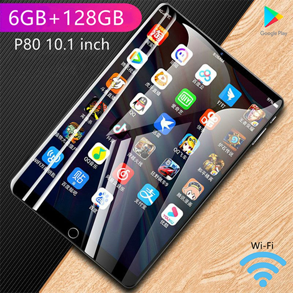 tablet 8 inch' Tablet android P80 tablets 6GB RAM 128GB ROM Network Gaming laptop 4G 10 Core Tablet