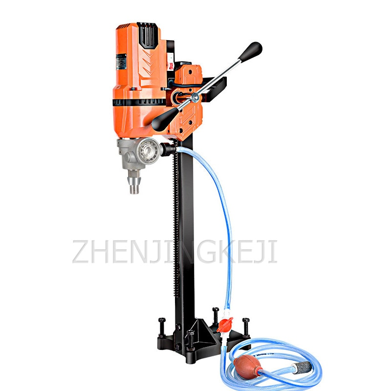 220V Small Desktop Water Drilling Rig High-Power Air-Conditioning Concrete Engineering Beam Hole Stainless Steel Drilling Engine