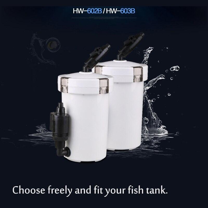 220-240 В/50 Гц супер тихий 6 Вт 14 Вт аквариум внешний фильтр для канистры внешняя система фильтрации с циклом аэрации насоса