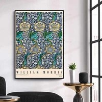 william morris exhibition poster victoria and albert museum gallery printwall art canvas painting botanical print home decor