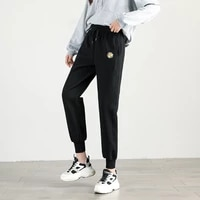 hed 2020 new women fashion elastic waist sport harem pants female casual floral print loose jogging trousers