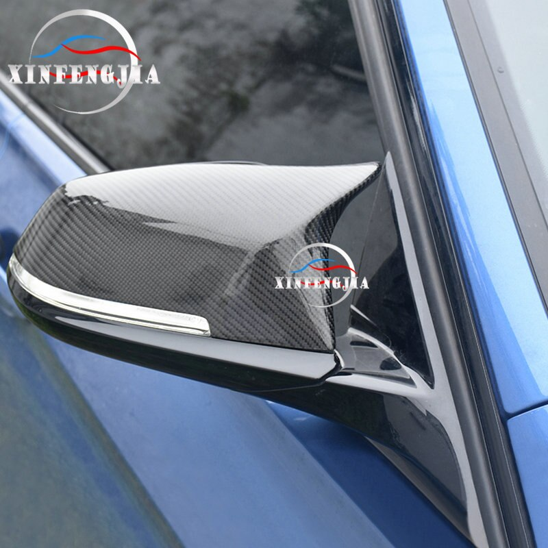 Для BMW 1 2 3 4 серии 3GT X1 F30 F34 F36 F22 E84 2 шт., настоящее углеродное волокно, боковое зеркало заднего вида, крыло, зеркало, замена, накладка
