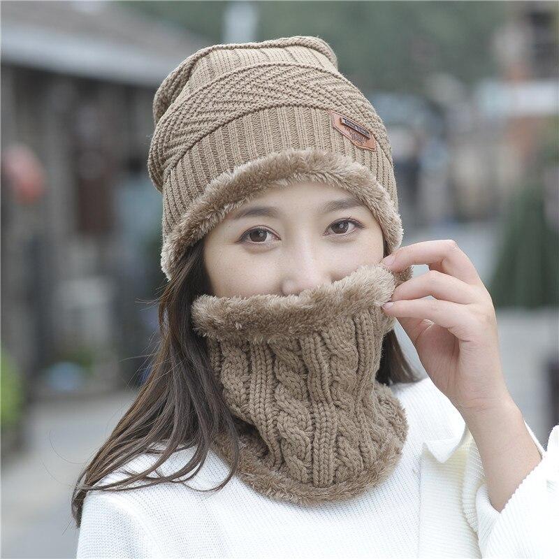 Женская осенне-зимняя шерстяная шапка, зимняя женская вязаная шапка, модная зимняя женская шапка, Балаклава, шапка из двух частей, мужская ш...