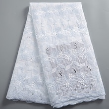 African Laces Fabric 2021 100% Cotton High Quality Lace French Swiss Voile Embroidery Lace Fabric 5