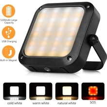 Portable LED Work Flood Camping Light 1000LM 5200mAh Emergency Hurricane Power Bank Magnetic Hanging Reading Lamp for Outdoor