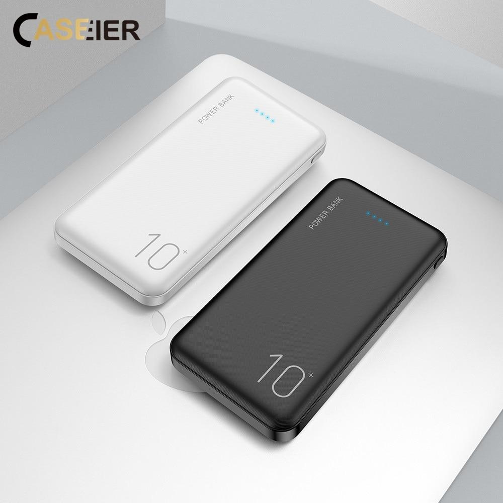 CASEIER 10000mAh Power Bank For Xiaomi huawei Dual USB Portable charger Ultra Thin Charger Powerbank bateria externa movil