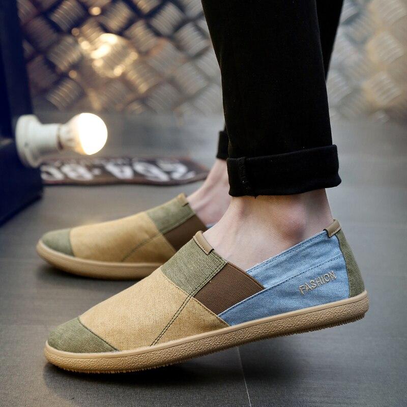 Zapatos casuales para hombre, zapatillas de lona anchas transpirables antideslizantes, zapatos de lino para hombre, alpargatas de moda de verano para hombre, zapatos de moda, mocasines nuevos