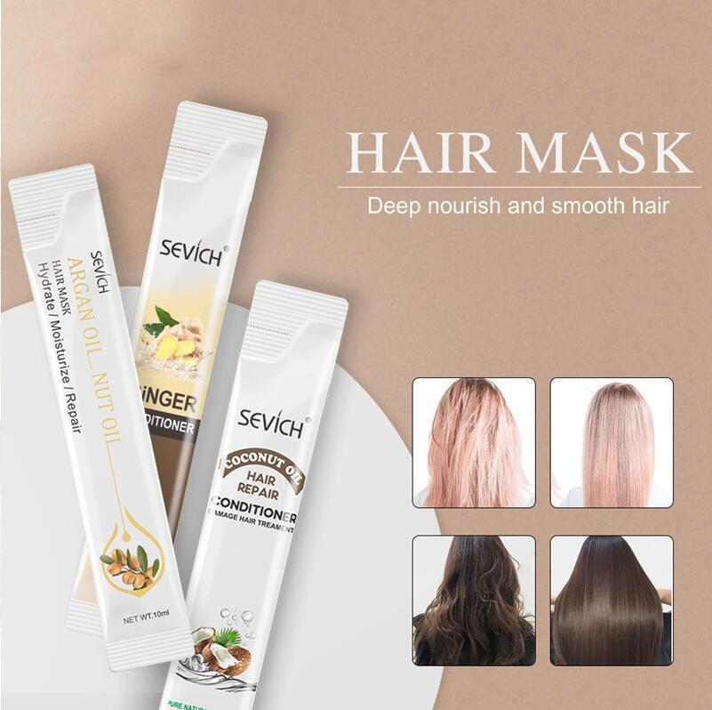 Mascarilla nutritiva para el cabello, aceite de argán, aceite de coco, jengibre,...