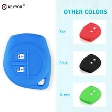 KEYYOU-étui de clé de voiture   En Silicone, protection de télécommande, pour suzuki swift sport SX4 Grand, Vitara liana, accessoires de voiture