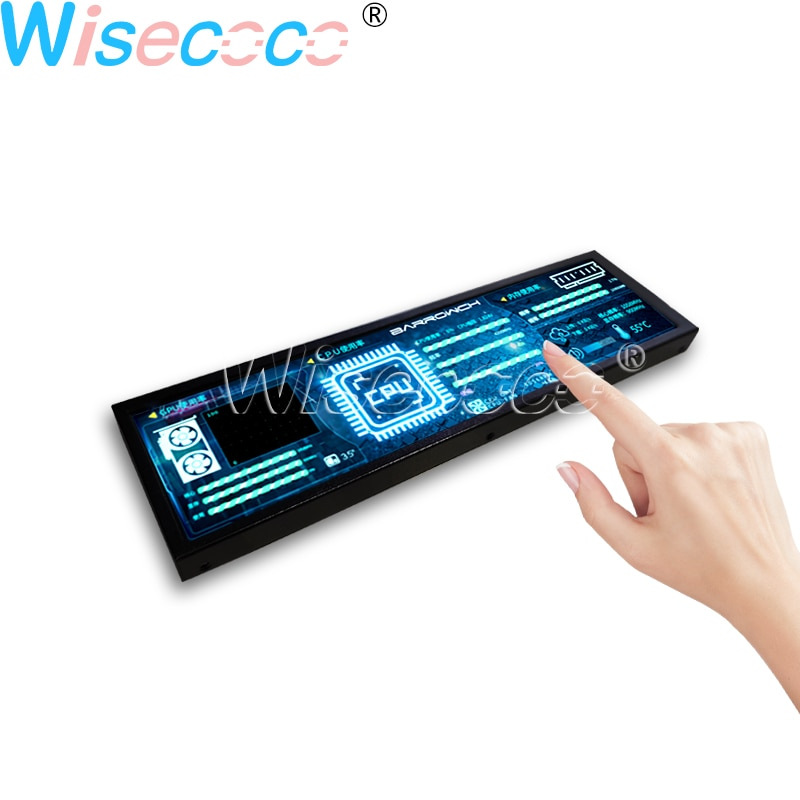 8.8 Inch 1920*480 LCD With Case Touch Monitor for Aida64 Second Display CPU Temperature Desktop Computer Operation System enlarge