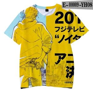 Fashion Novelty 3D BANANA FISH t-shirt Yellow Kpop Casual Boys And Girls Tshirts Summer Anime Soft Kids T Shirt Oversized Tees
