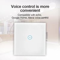 1PC Hot Smart Switch European Standard Graffiti Touch Timing Wall Smart Switch For Google Home Alexa Voice Control Smart Switch