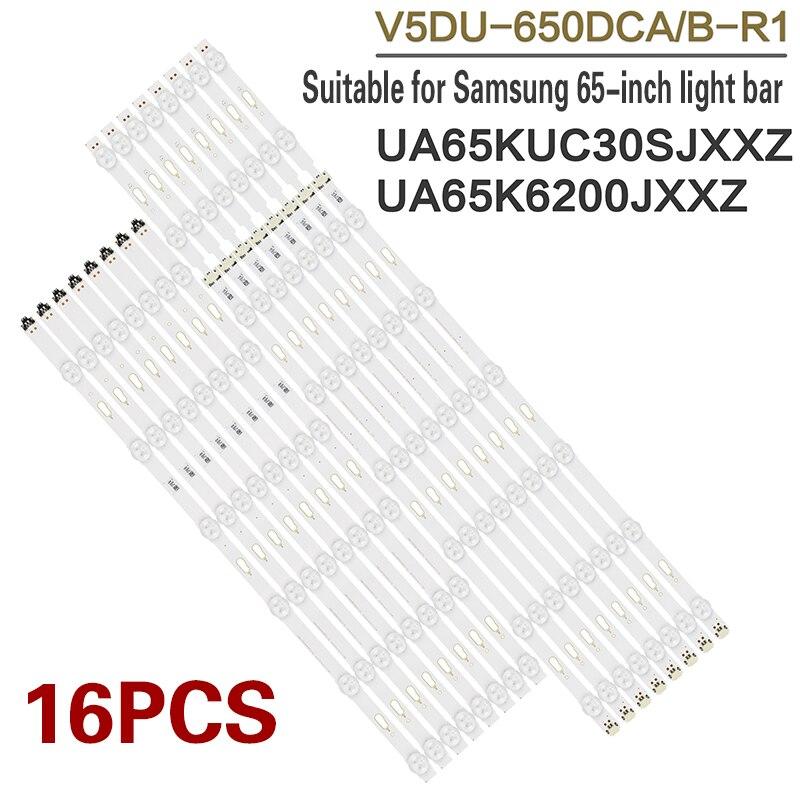 LED strip with backlight, brand new full set of strips for Samsung 65 inch UA65JU6800 UA65JU7800 UA65JU5900JXXZ UA65KU6300JXXZ U