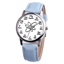 2020 Pop Chemical Element Watch Women Men 3D Design Classic Quartz Wrist Watches Leather Strap Analo