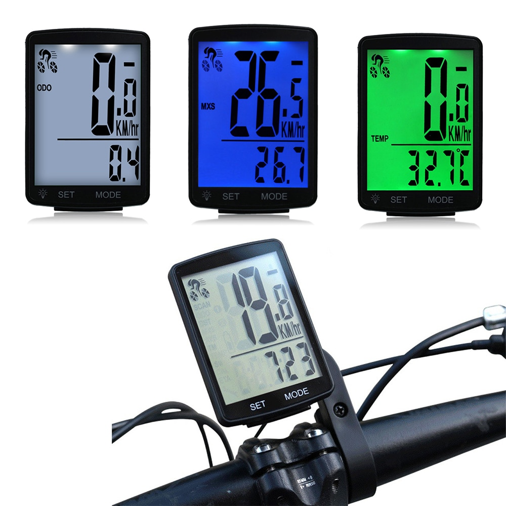 Velocímetro de ordenador, pantalla LCD multifuncional, bicicleta de ciclismo, piezas inalámbricas de bicicleta, velocímetro impermeable, odómetro