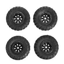 4pcs 13612 RC Car Plastic Tires For RGT 136240 V2 1/24 4WD Vehicle RC Rock Crawler Off-road Parts