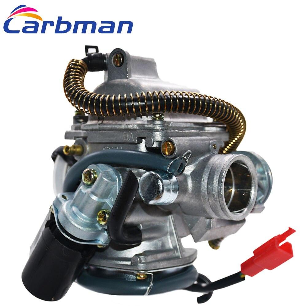 Carbman en carbohidratos y de carburador múltiple para ATV Go Kart Roketa Taotao Sunl JCL GY6 150cc 24MM