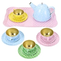 1 set15pcs doll house decorations accessories mini tea ware simulation kitchen children toy tea kit tinplate tableware
