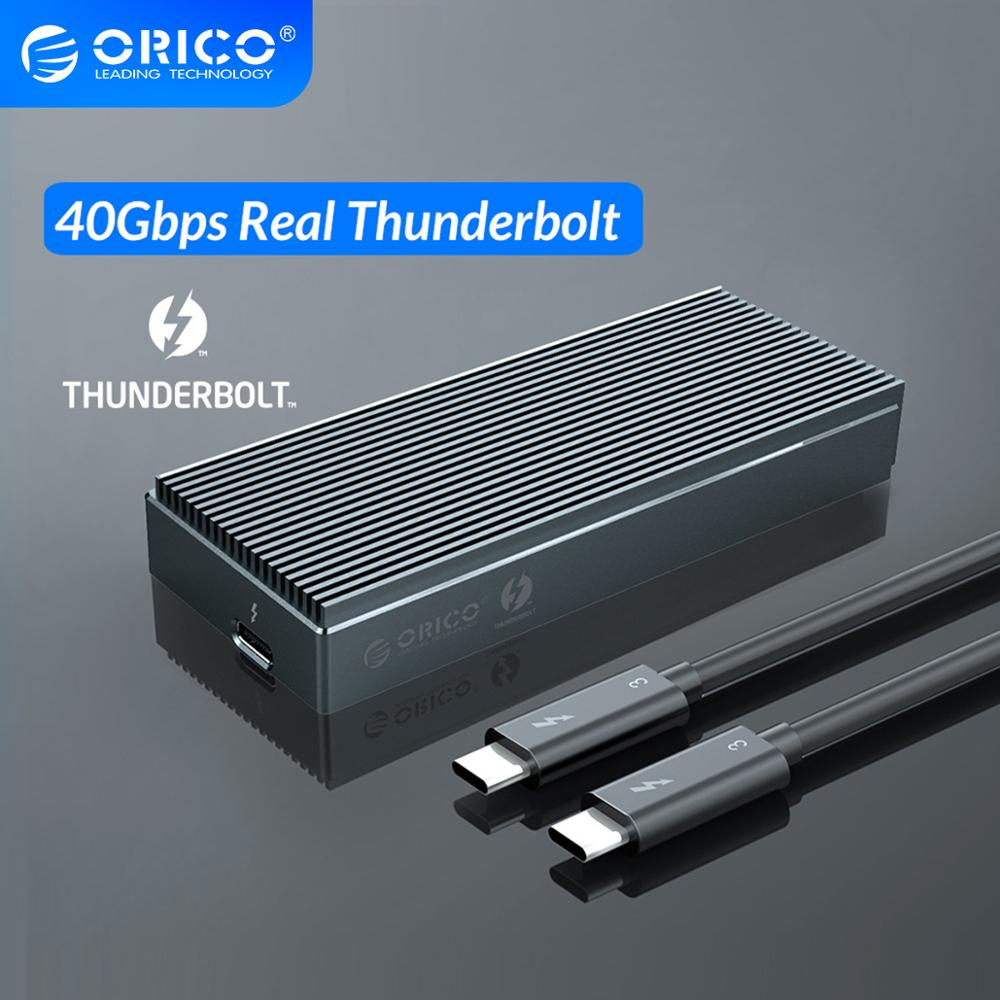 ORICO Thunderbolt 3 40Gbps NVME M.2 SSD recinto 2TB de aluminio USB-C con 40Gbps Thunderbolt 3 C a C Cable para computadora portátil de escritorio