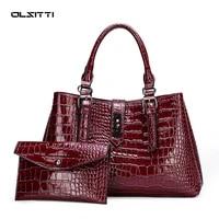 2 in 1 high quality leather casual shoulder bag fashion crossbody bags for women 2021 designer luxury handbags women bags sac
