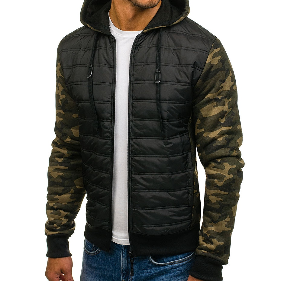 ZOGAA Winter Camouflage Jacket Men Casual Hoodies Warm Hooded Overcoat Male Army Patchwork Bomber Jackets Clothing Outwear