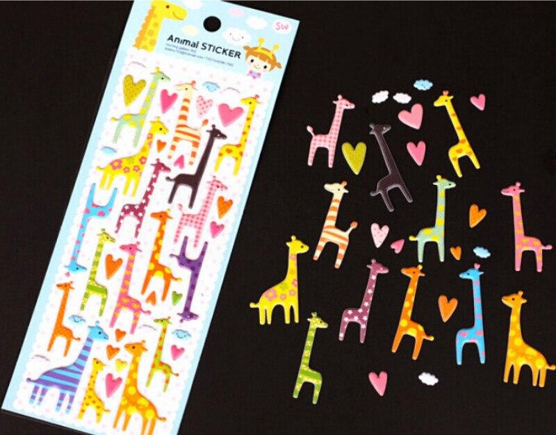 Juguete colorido para niños 3D, pegatina de burbuja, DIY, perro gato dibujo jirafa, elefante, notas adhesivas, cuaderno, álbum, calendario al azar