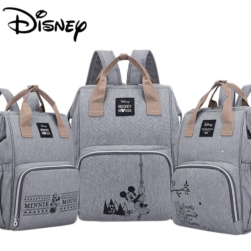 2019 Disney Diaper Bag Large Capacity Waterproof Diaper Bag Set Mommy Pregnant Women Backpack Travel Land Bag Mickey Mummy Bag