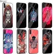 Coque de téléphone en verre TPU pour Huawei P10 P20 P30 Lite Pro P Smart Mate 10 20 Lite Y6 Y9 Honor 7A 8X9 10 coque de masque Oni