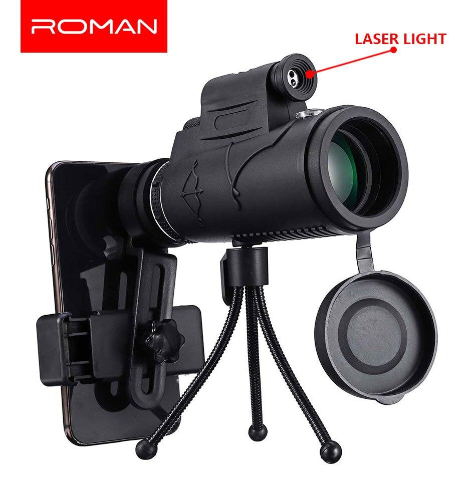 40X60 Zoom Laser/LED Monokulare Teleskop Tele Telefon Kamera Objektiv Stativ Kit Tag & Nachtsicht HD optik Zoom Teleskop Objektiv