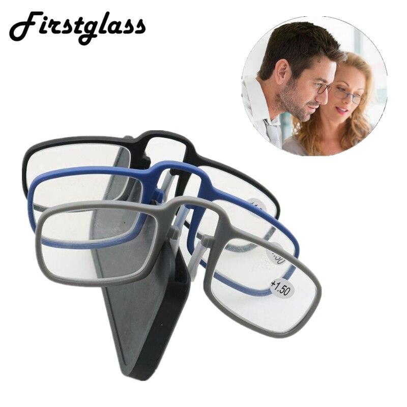 Mini lunettes de lecture autocollantes   À Clip de nez sur les lunettes presbytes, cadre en verre pour hommes et femmes noirs de haute qualité unisexe 2019