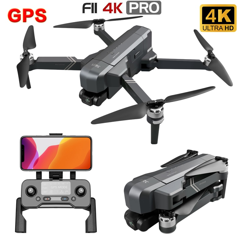 SJRC-Dron Profesional F11 4K PRO, cuadricóptero con GPS, 5G, Wifi, FPV, cámara...