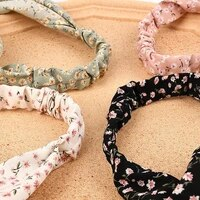 stylish hair scarf wide application polyester flower pattern all match head wrap for girls