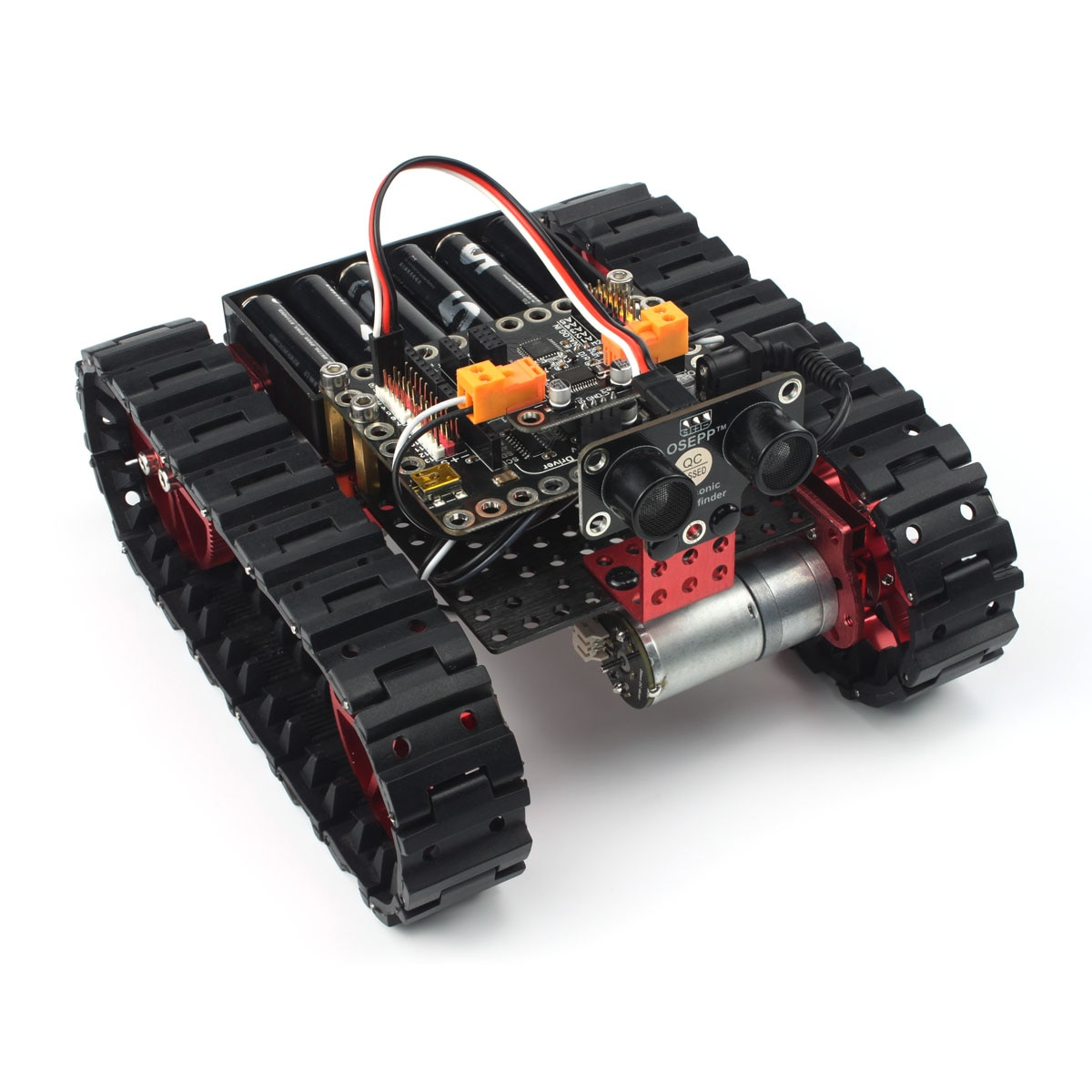 High quality aluminum tank robot kit Learn DIY mechanical kit RC remote control for Arduino programming