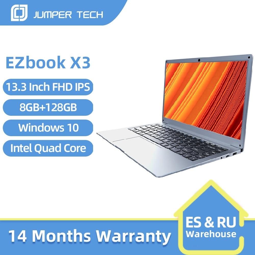 Get Jumper EZbook X3 Laptop Notebook 8GB 128GB 13.3 inch 1920*1080 FHD Laptops  Intel Celeron Quad Core Computer Windows 10