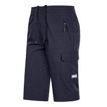 Calções de verão dos homens 2020 tamanho grande 5xl 6xl 7xl 8xl calções de secagem rápida bermuda masculino elástico estiramento zíper bolso longo curto