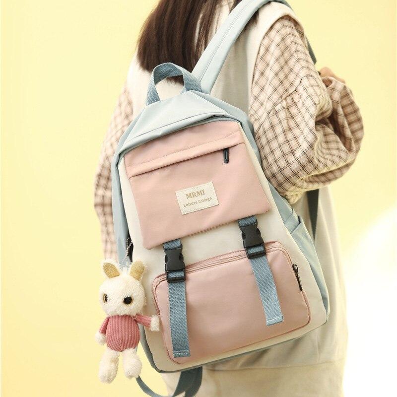 Фото - Женский рюкзак, новый модный женский рюкзак, школьная сумка, вместительный холщовый рюкзак, женский рюкзак рюкзак женский solo 221 489