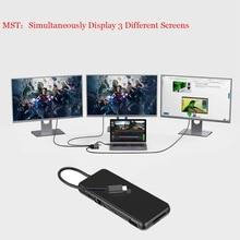 Mst Multi Hub Hdmi 2 Usb C Laptop Docking Station Usb 3.0 Hdmi Vga RJ45 Pd Usb Hub Voor Laptop macbook Pro Samsung Dock