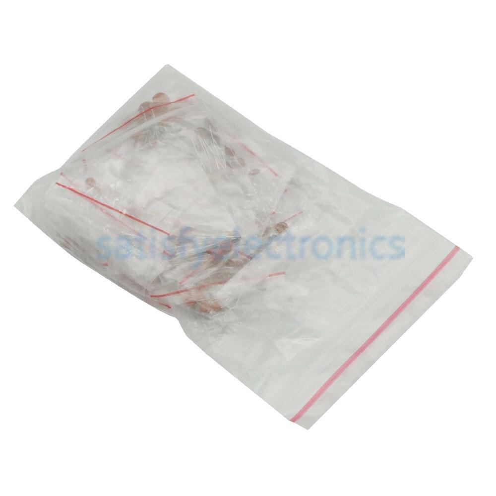 250 Uds condensador de cerámica surtido Kit 1pf-100nf Paquete de condensadores de cerámica 2pf-01uf 25 valor * 10cs/tipos