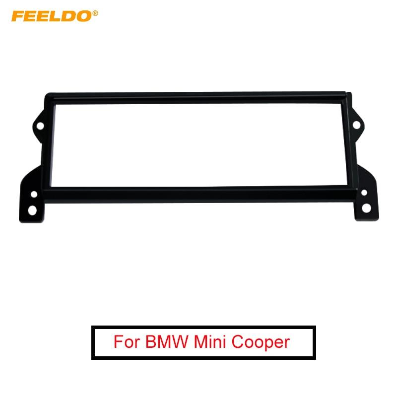 Feeldo 1din quadro de fascia rádio estéreo do carro para bmw mini cooper (r50, 52,53) placa painel quadro painel instalação kit guarnição