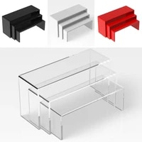 3pcsset clear acrylic display stand jewelry showcase storage rack shelf holder toy car model purse perfume display stand