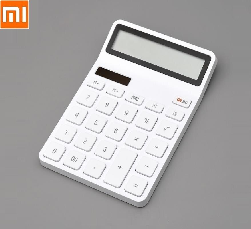Calculadora de escritorio Xiaomi para oficina, calculadora de apagado automático con pantalla de 12 números fotoeléctrica y doble inmersión para oficinas