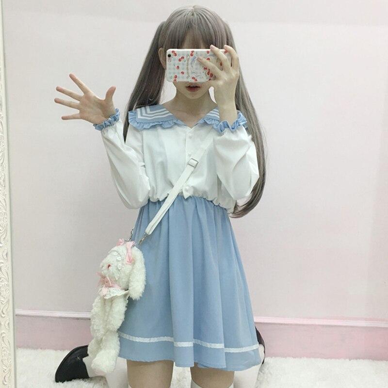 Uniforme escolar de primavera y verano para chicas, uniformes escolares de marinero de clase japonesa, ropa de estudiante, traje de Anime para chicas, traje marinero