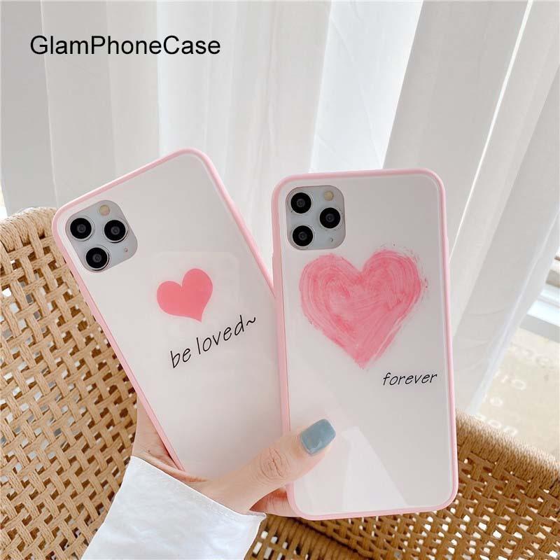 Funda de teléfono GlamPhoneCase Be Love Forever para iPhone 2 11Pro/Max X XS Max XR funda de silicona suave para iPhone 11 7 8Plus