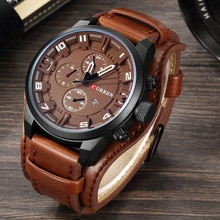 Curren 8225 Army Military Quartz Mens Watches Top Brand Luxury Leather Men Watch Casual Sport Male C
