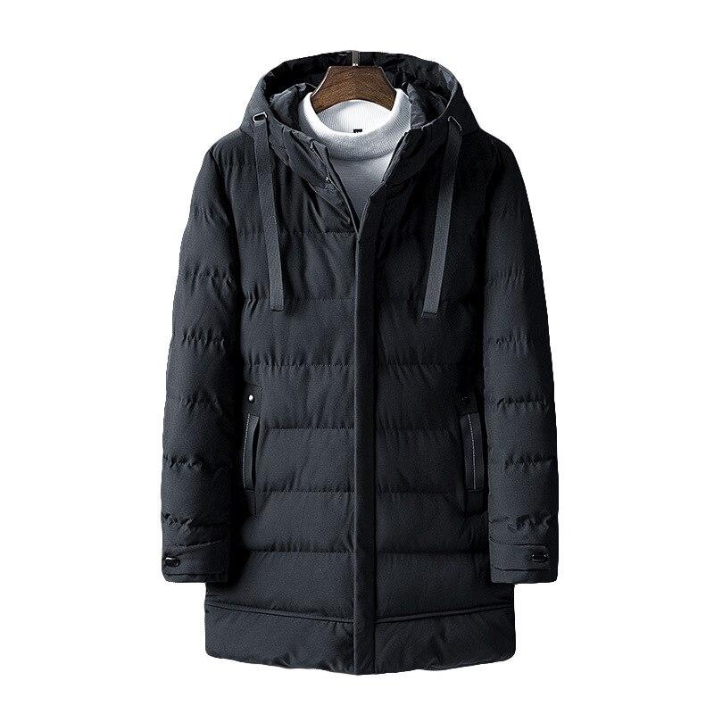 Мужские зимние куртки, хлопковые куртки, мужские пуховики, модные толстые стеганые куртки средней длины, новые теплые хлопковые куртки для