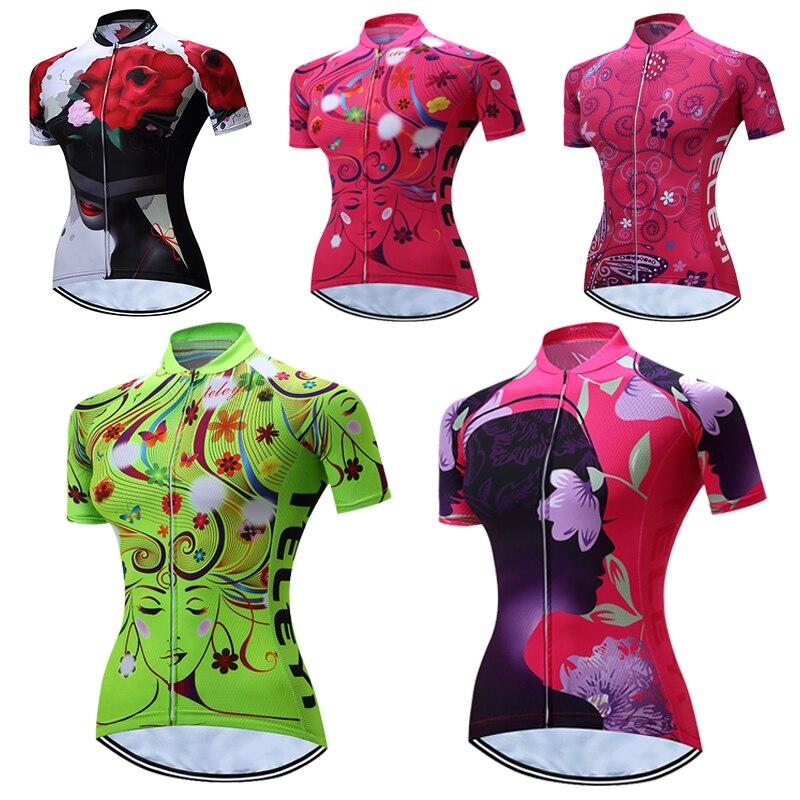 Женская велосипедная рубашка teleyi, велосипедная рубашка для езды на велосипеде 2020, Шоссейная MTB велосипедная рубашка, командная Ropa Ciclismo maillot ...