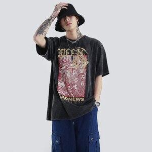 Men Graphic T-shirts Oversized Retro Vintage Couples Matching Clothing Set 2020 Hip Hop O Neck Streetwear For Men