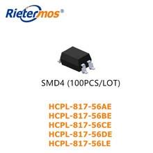 100 Uds SMD4 HCPL-817-56AE HCPL-817-56BE HCPL-817-56CE HCPL-817-56DE HCPL-817-56LE SOP4