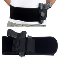 pistol holster girdle belt tactical belly band concealed carry gun holster right hand pistol universal invisible elastic waist